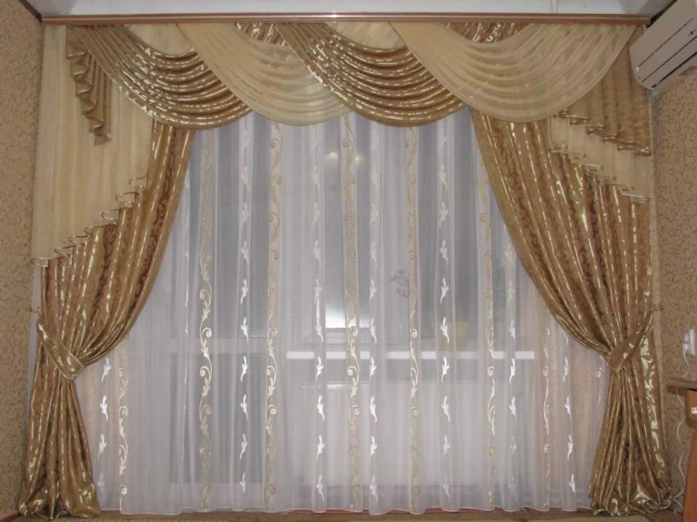 Ламбрекены фото для гостиной